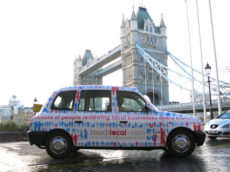 2007 Ubiquitous taxi advertising campaign for Touch Local - Local businesses reviewed by you