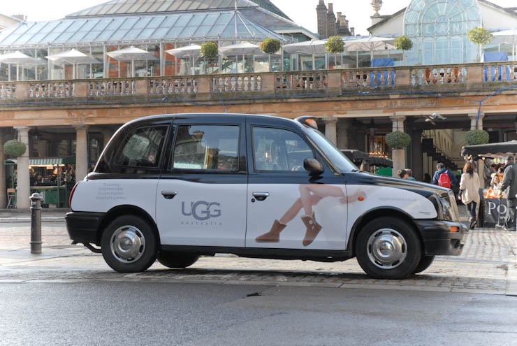 2013 Ubiquitous taxi advertising campaign for UGG - UGG Australia