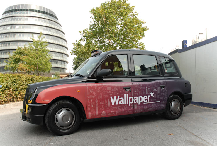 2010 Ubiquitous taxi advertising campaign for Wallpaper - Wallpaper