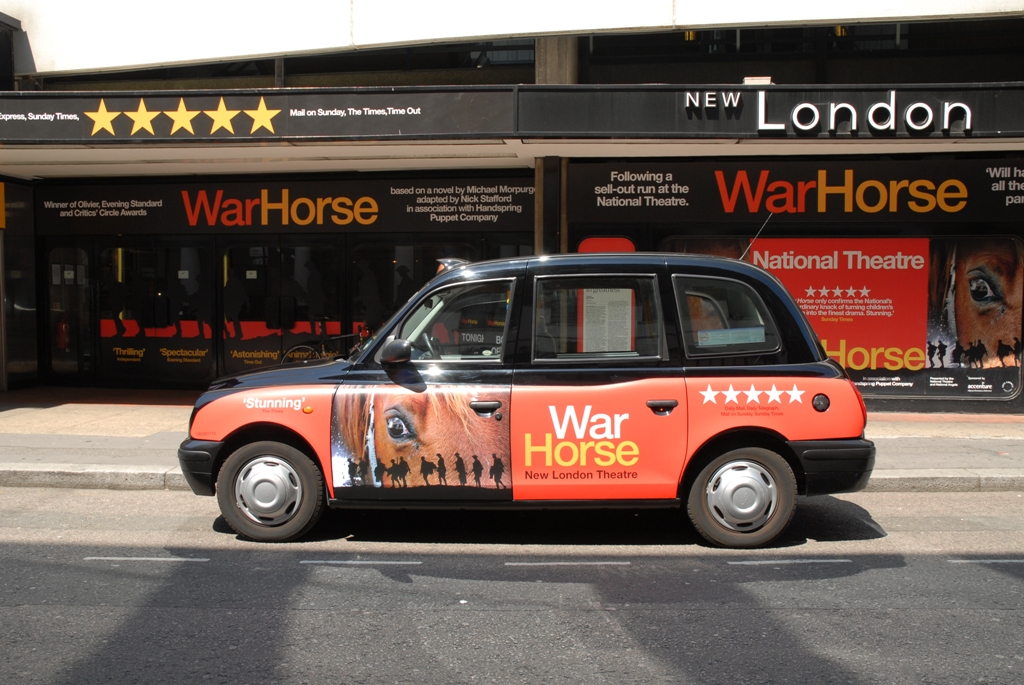 2009 Ubiquitous taxi advertising campaign for AKA - War Horse