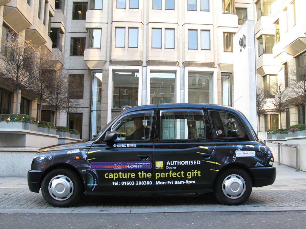 2007 Ubiquitous taxi advertising campaign for Warehouse Express - Capture the Perfect Gift