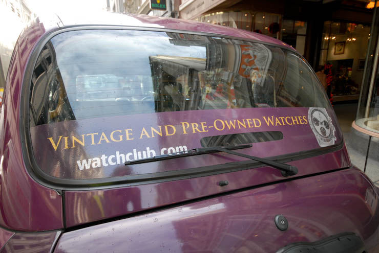 2011 Ubiquitous taxi advertising campaign for Watch Club - London's Specialist Watch Shop