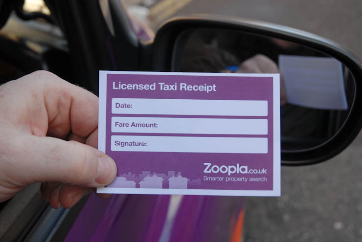 2012 Ubiquitous taxi advertising campaign for Zoopla - Smarter Property Search