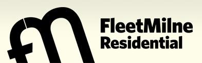 Ubiquitous Taxi Advertising client Fleet Milne Residential  logo