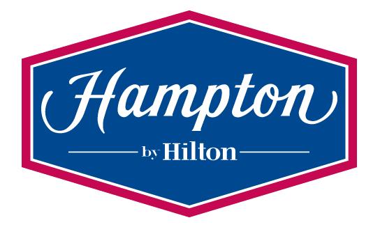 Ubiquitous Taxi Advertising client Hampton By Hilton  logo