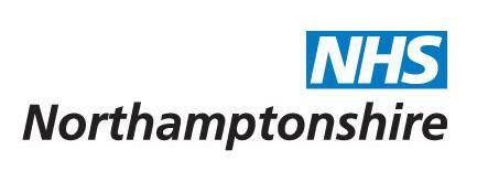 Ubiquitous Taxi Advertising client NHS Northampton  logo