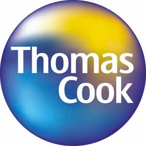 Ubiquitous Taxi Advertising client Thomas Cook  logo
