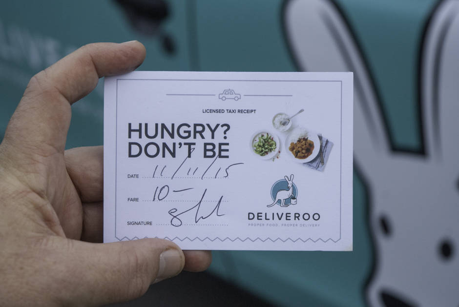 2015 Ubiquitous campaign for Deliveroo - Proper Food. Proper Delivery