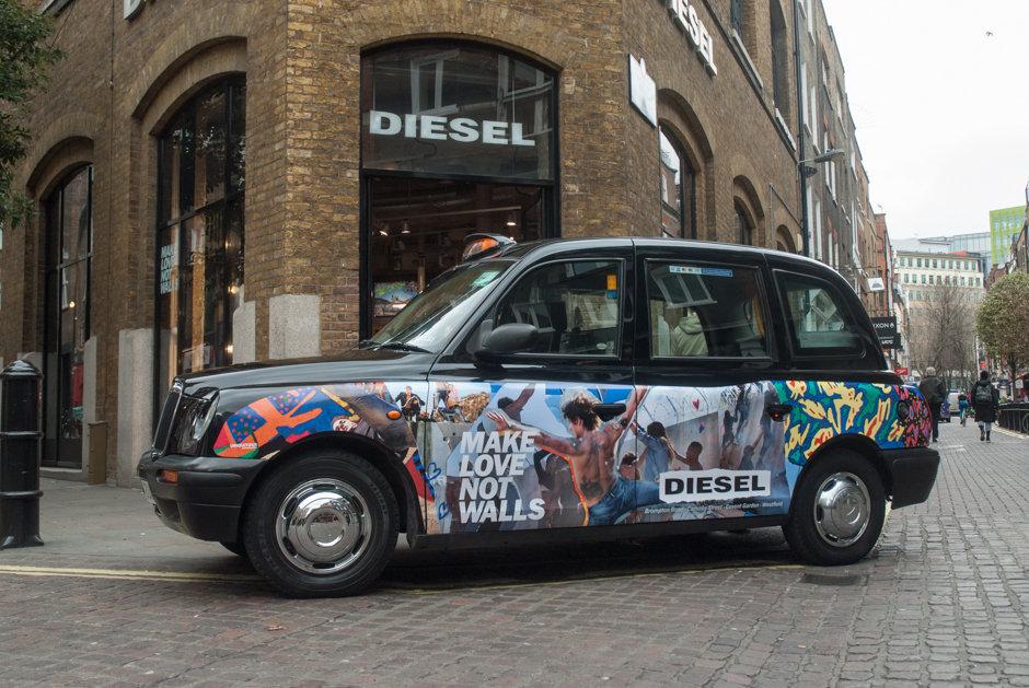 2017 Ubiquitous campaign for Diesel - #MakeLoveNotWalls