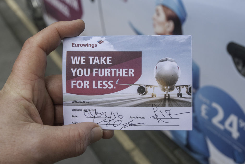 2016 Ubiquitous campaign for Eurowings - Flag down a great fare with Eurowings!