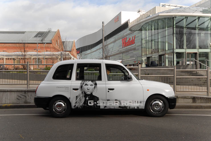 2012 Ubiquitous taxi advertising campaign for G Star - G Star Raw