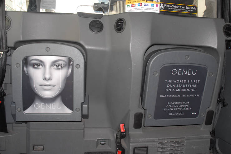2014 Ubiquitous campaign for Geneu  - THE WORLD'S FIRST DNA BEAUTYLAB ON A MICROCHIP