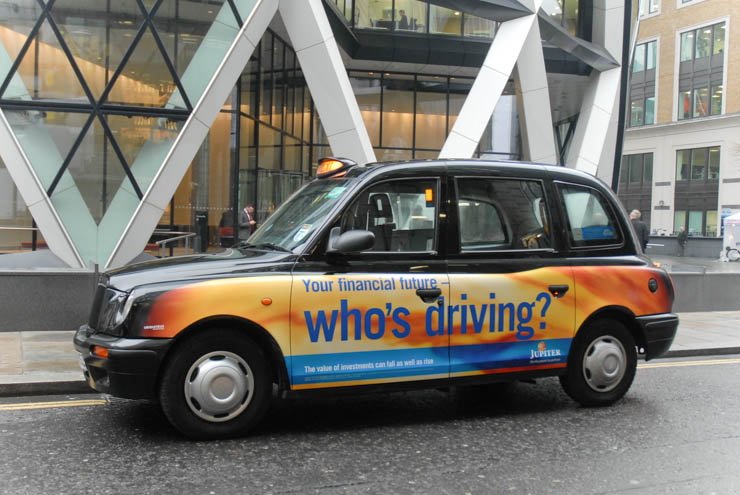 2013 Ubiquitous taxi advertising campaign for Jupiter  - Who's Driving?