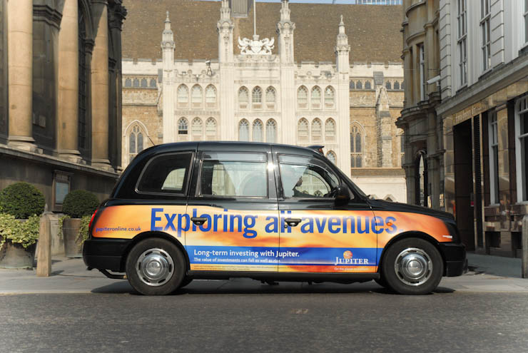 2012 Ubiquitous taxi advertising campaign for Jupiter  - Exploring New Avenues