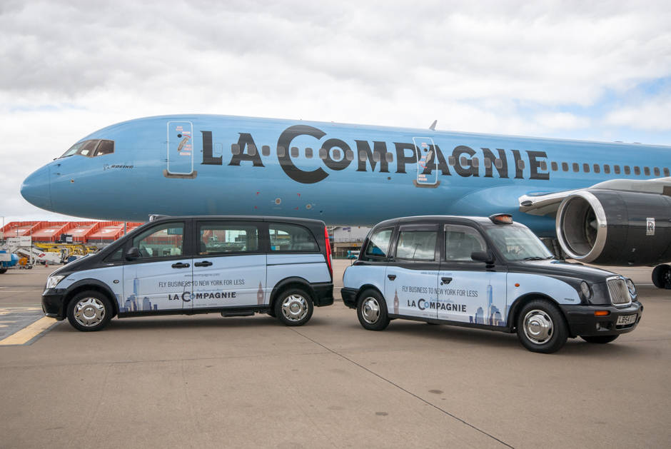 2015 Ubiquitous campaign for La Compagnie - Fly Business To New York For Less