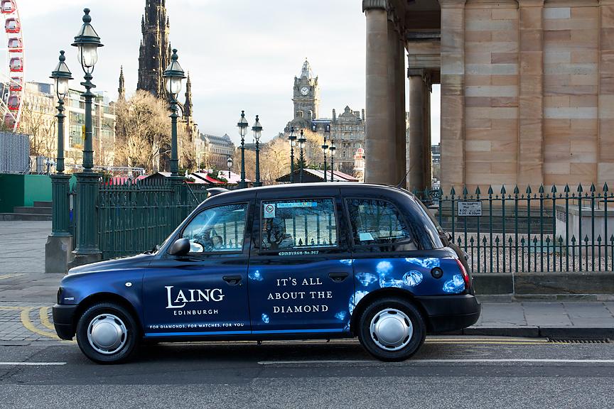 2016 Ubiquitous campaign for Laing Edinburgh - It's all about the diamond!