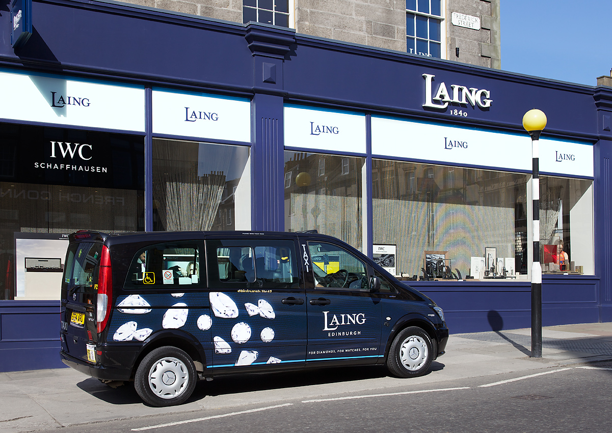 2016 Ubiquitous campaign for Laing Edinburgh - For Diamonds, For Watches, For You