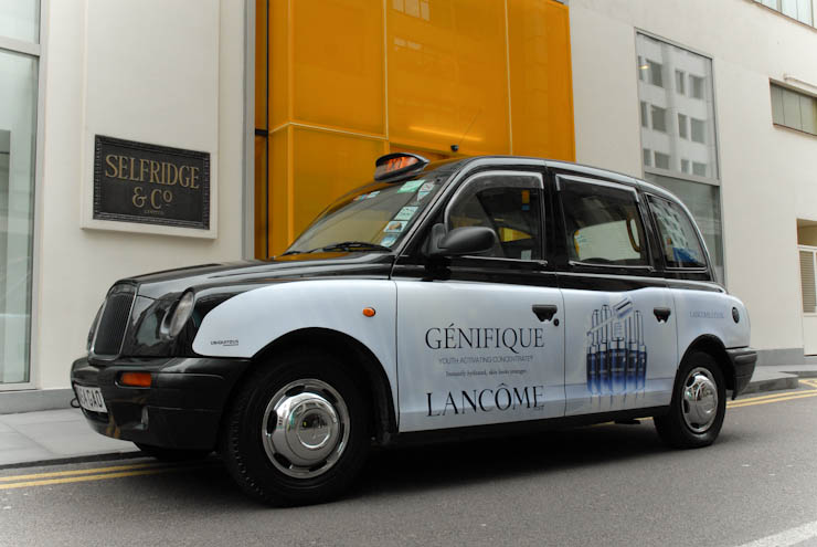 2012 Ubiquitous taxi advertising campaign for Lancome - Genifique
