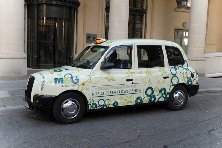 2012 Ubiquitous taxi advertising campaign for M&G - Experienced at Leading the way in Equities