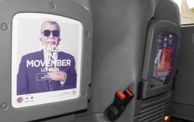 Ubiquitous campaign for Movember - Movember London Cab Driver Challenge