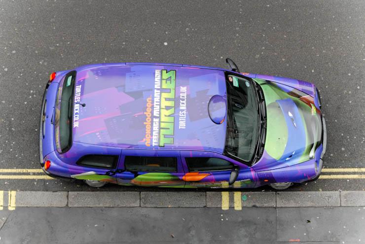 2012 Ubiquitous taxi advertising campaign for Nickelodeon - Teenage Mutant Ninja Turtles