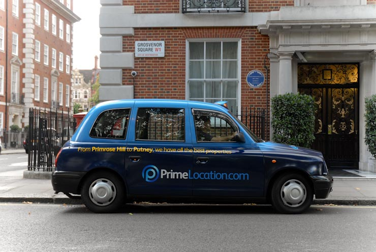 2012 Ubiquitous taxi advertising campaign for Prime Location - We Have All The Best Properties