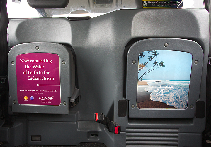 2014 Ubiquitous campaign for Qatar Airways  - Connecting Edinburgh to over 130 destinations Worldwide