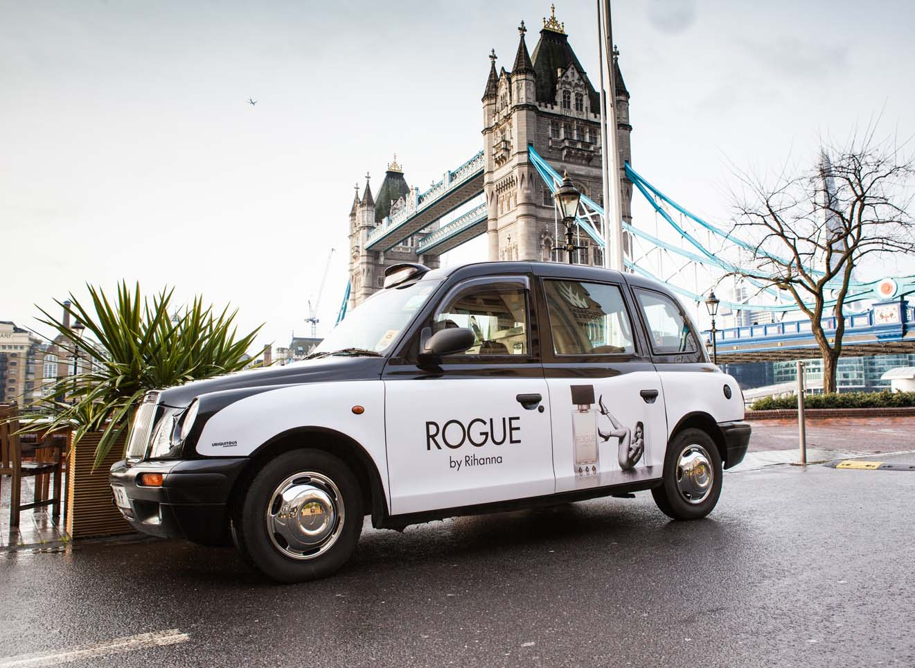 2014 Ubiquitous taxi advertising campaign for Perfumes by Rihanna - Rogue by Rihanna