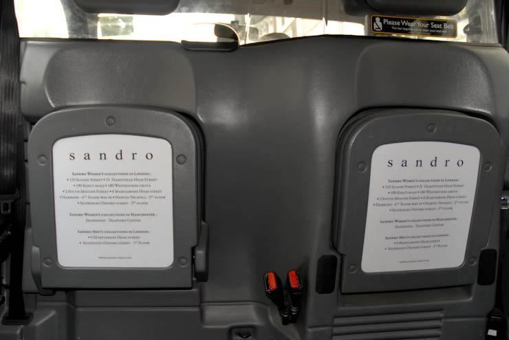 2012 Ubiquitous taxi advertising campaign for Sandro  - www.sandro-paris.com