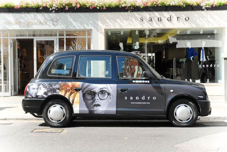 2012 Ubiquitous taxi advertising campaign for Sandro  - sandro-paris.com