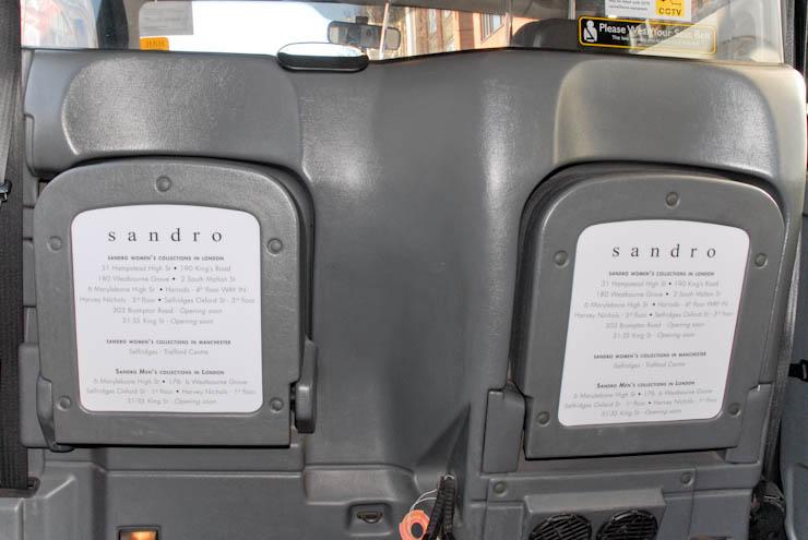 2013 Ubiquitous taxi advertising campaign for Sandro  - Sandro Paris