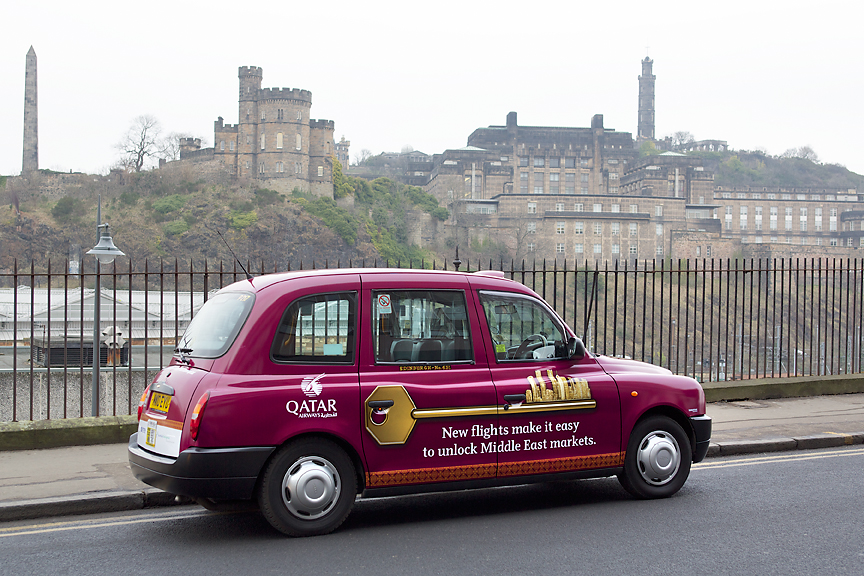 2015 Ubiquitous campaign for Scottish Enterprise - Qatar: New Flights Make It Easy To Unlock Middle East Markets