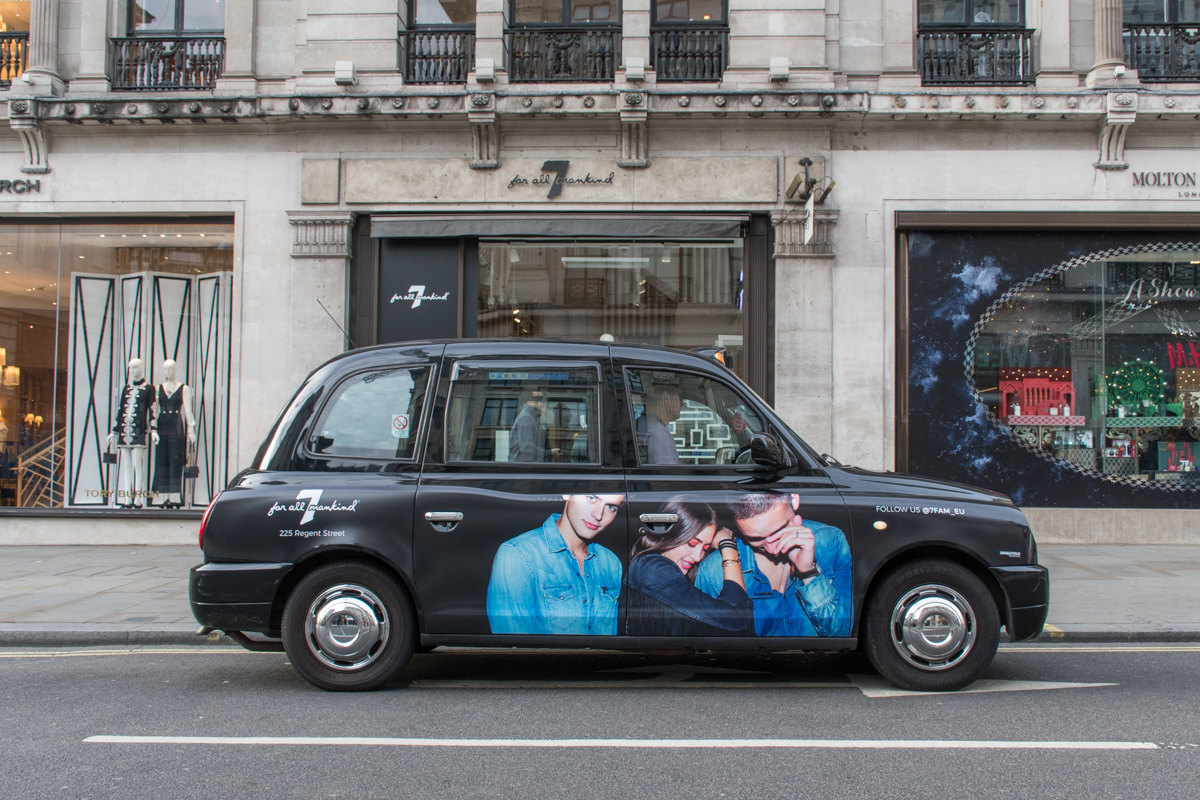 2017 Ubiquitous campaign for 7 For All Mankind  - 225 Regent Street