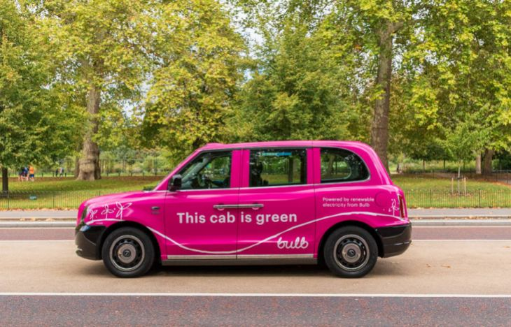 Bulb electric taxi advertising campaign