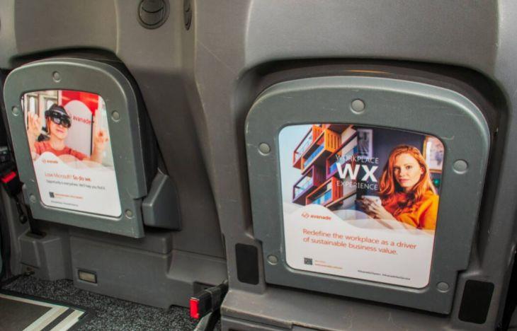 Avanade taxi tip seat advertising