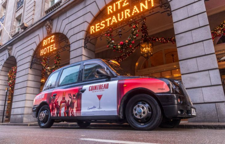 Cointreau SuperSide Taxi Advertising