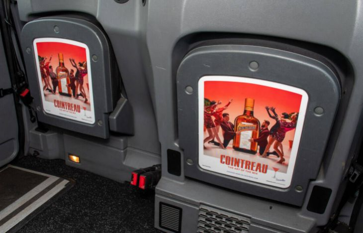 Cointreau Tipseat Taxi Advertising