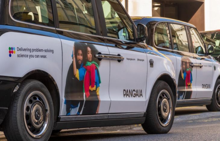 Pangaia SuperSide taxis on the street