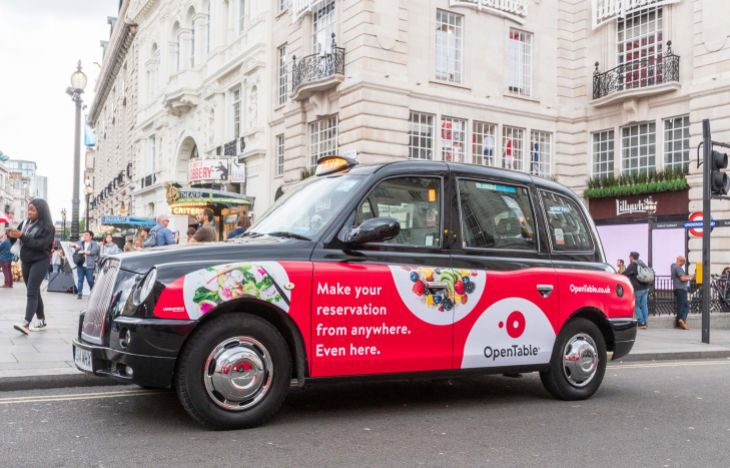 OpenTable SuperSide Taxi Advertising