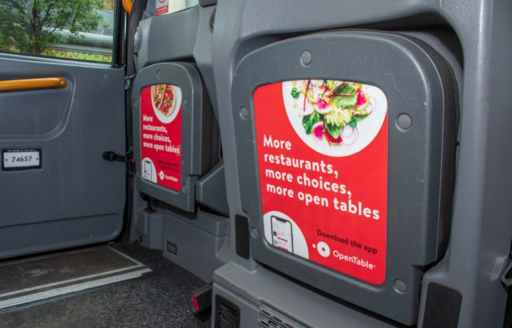 OpenTable Tip Seat Taxi Advertising