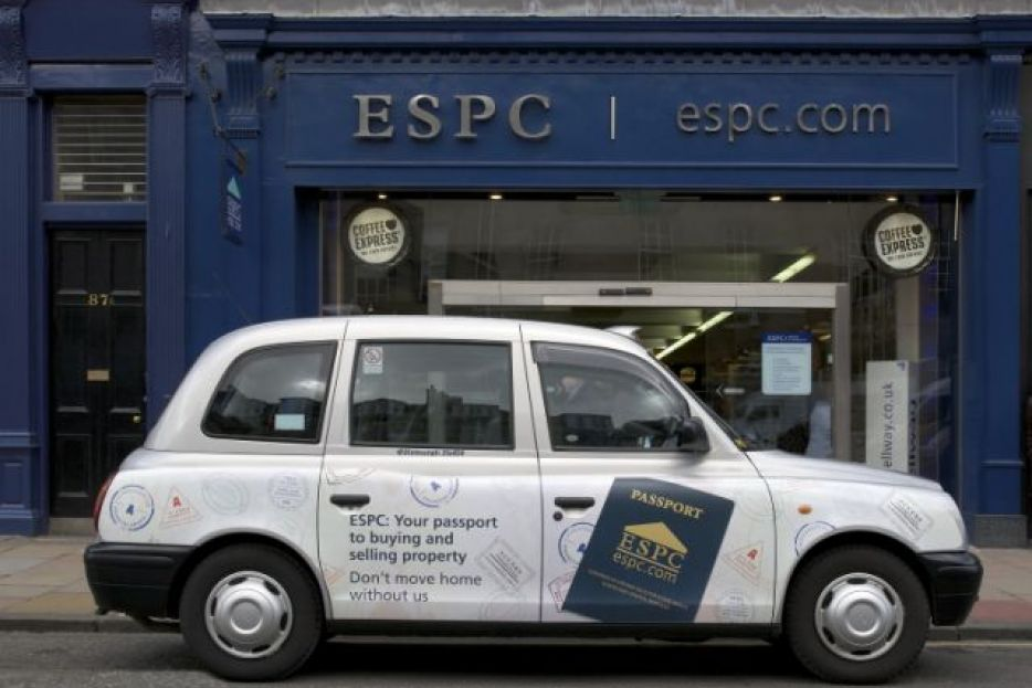 2008 Ubiquitous taxi advertising campaign for ESPC - Don't Move Home Without Us