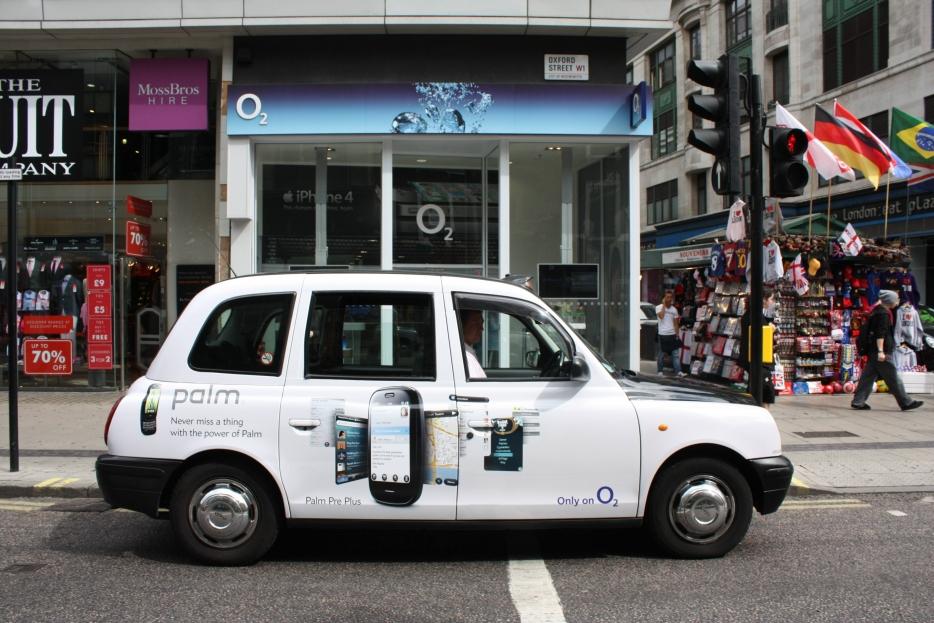 2010 Ubiquitous taxi advertising campaign for Palm - Palm Pre Plus