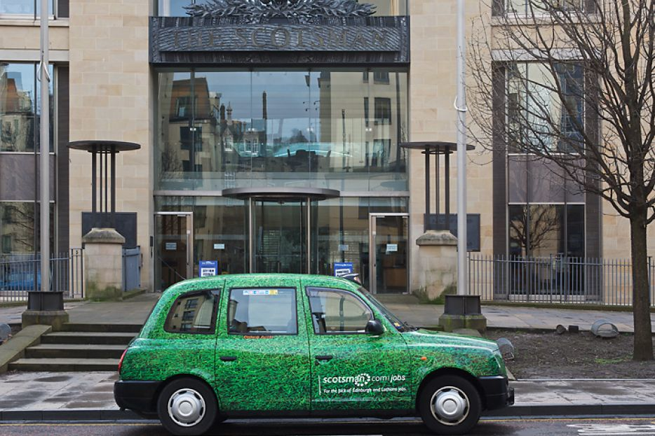2011 Ubiquitous taxi advertising campaign for Scotsman - Scotsman.Com/Jobs