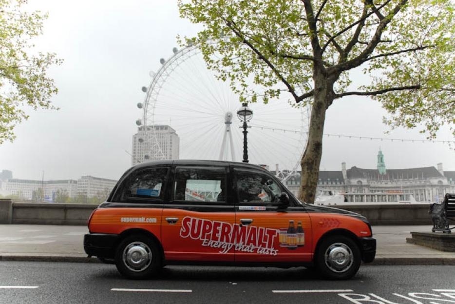 2012 Ubiquitous taxi advertising campaign for Supermalt - Energy that lasts