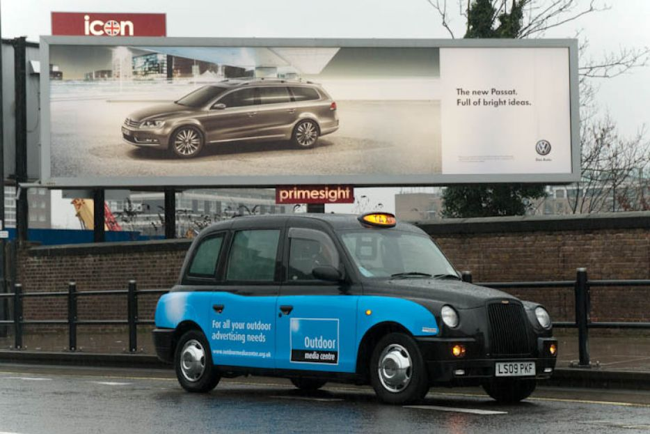 2011 Ubiquitous taxi advertising campaign for OMC - For All Your Outdoor Advertising Needs