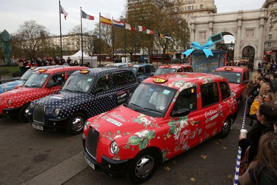 Cath Kidston taxi convoy