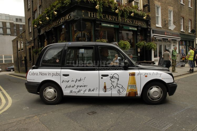 2008 Ubiquitous taxi advertising campaign for Cobra Beer - Now you're talking