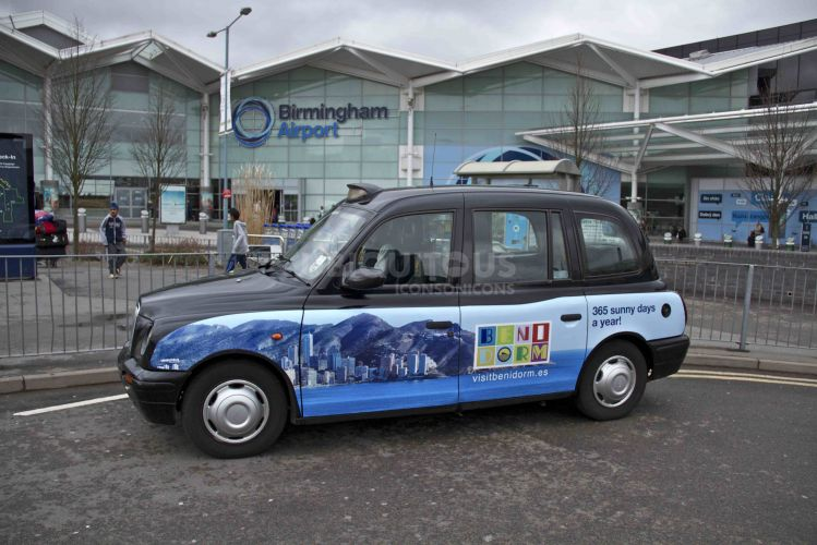 2013 Ubiquitous taxi advertising campaign for Visit Benidorm - 365 Sunny Days a Year!