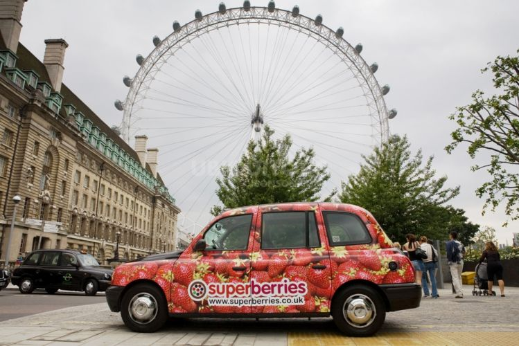 2007 Ubiquitous taxi advertising campaign for British Summer Fruits - Superberries
