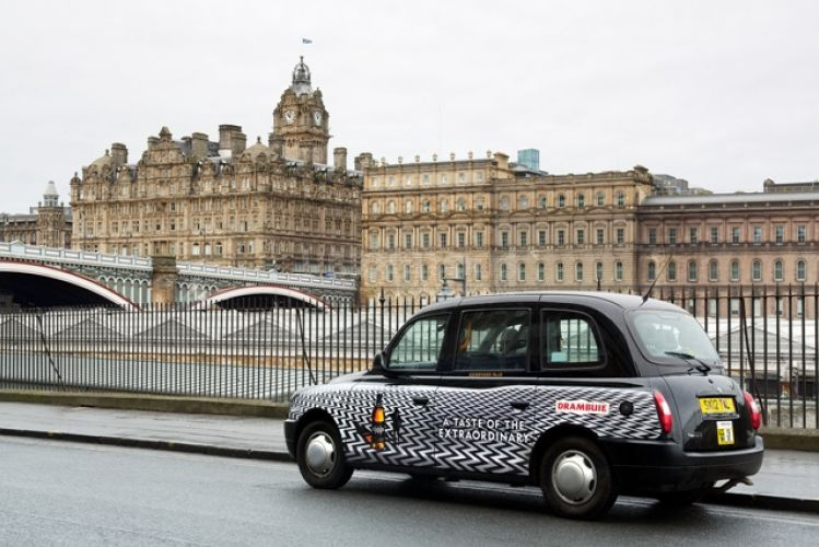2013 Ubiquitous taxi advertising campaign for Drambuie - A Taste of the Extraordinary